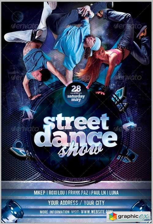 Street Dance Show Flyer Template