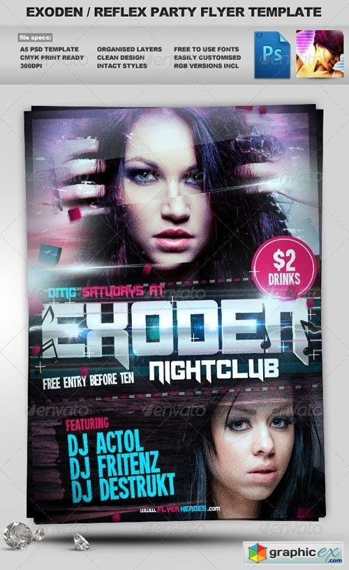 Exoden Nightclub Party Flyer Template