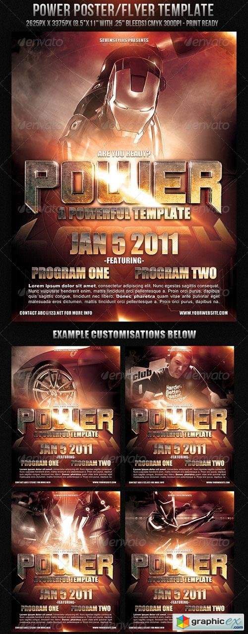 Power Poster Flyer Template