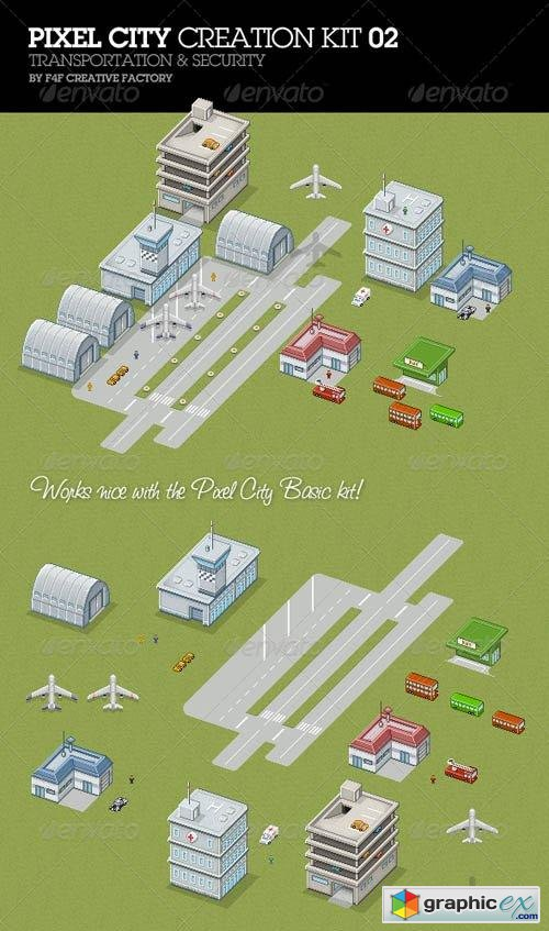 Pixel City Creation Kit 02