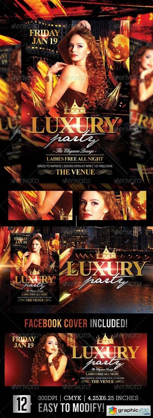Luxury Nights | Flyer + Facebook Cover