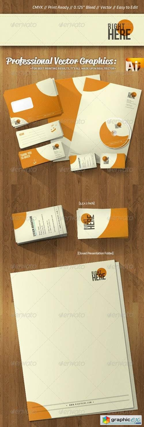 Professional Corporate Identity Retro Style Colors