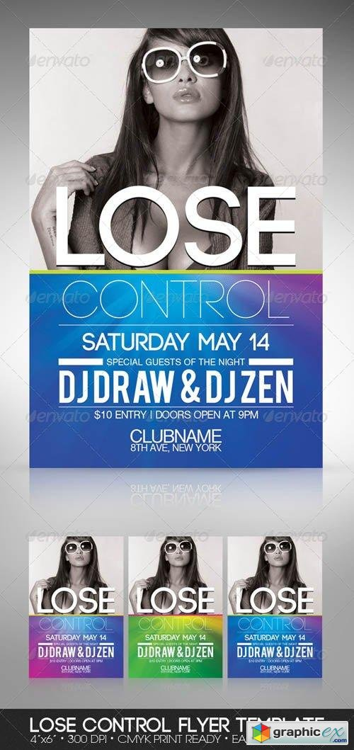 Lose Control Party Flyer