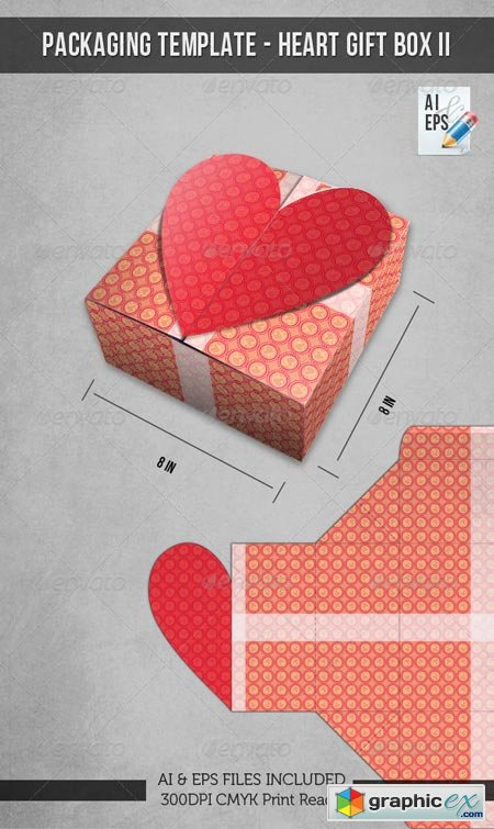 Packaging Template - Heart Gift Box II 2518251