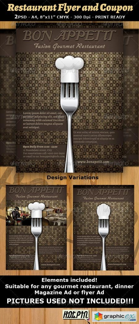 Restaurant Magazine Ad or Flyer Template v7 2568996