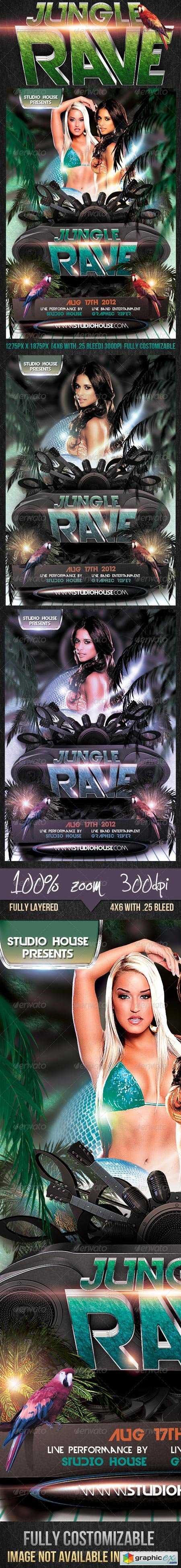 Jungle Rave Party Flyer 2648770