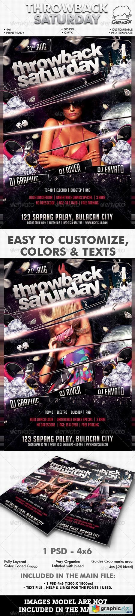 Throwback Saturday Flyer Template 2627695