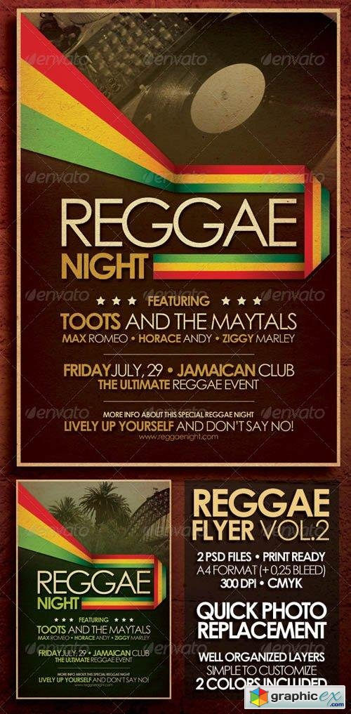 Reggae Flyer/Poster Vol. 2