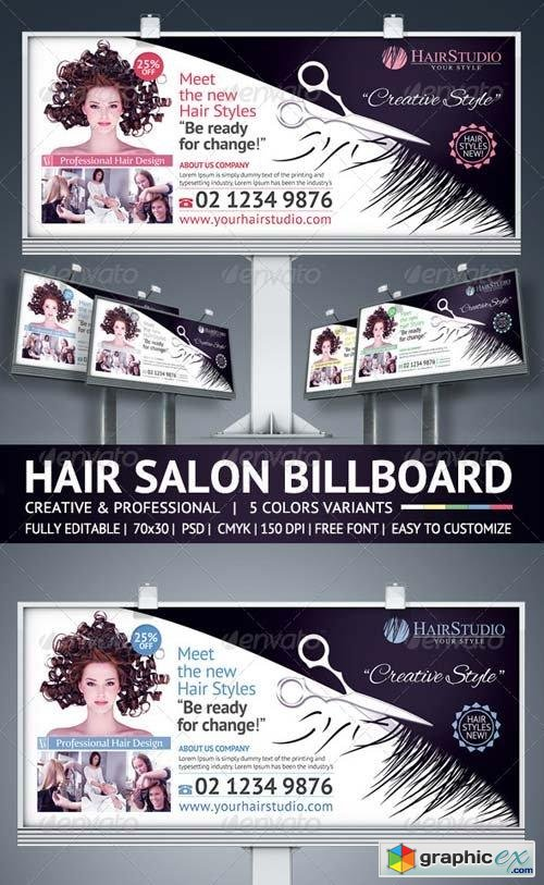 Hair Salon Billboard