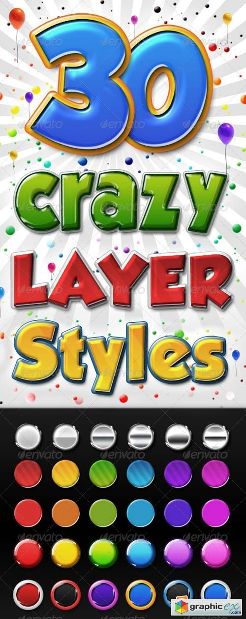 Big Pack of Colourful 3D Layer Styles