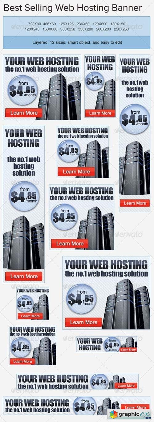 Web Hosting PSD Banner Ad Template