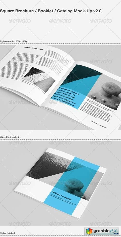 Square Brochure / Booklet / Catalog Mock-Up