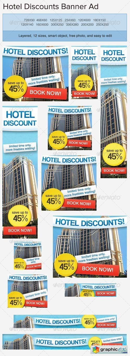 Hotel Accommodation Banner Ad