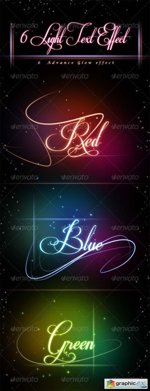 Glowing Light Text Effect