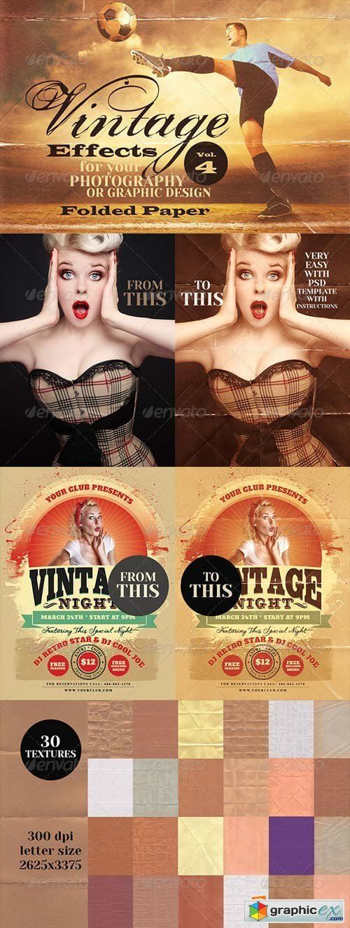 Vintage Effects for Photo, Designs 4