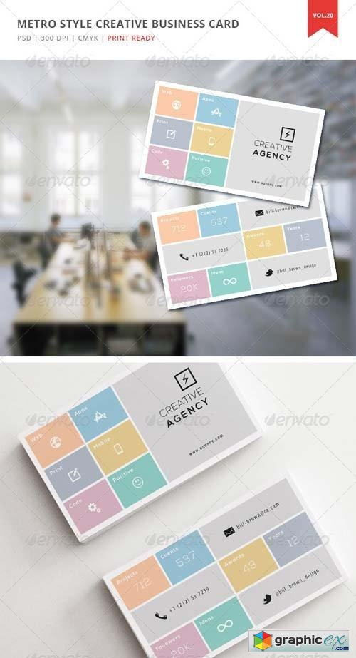 Metro Style Creative Business Card - Vol. 20