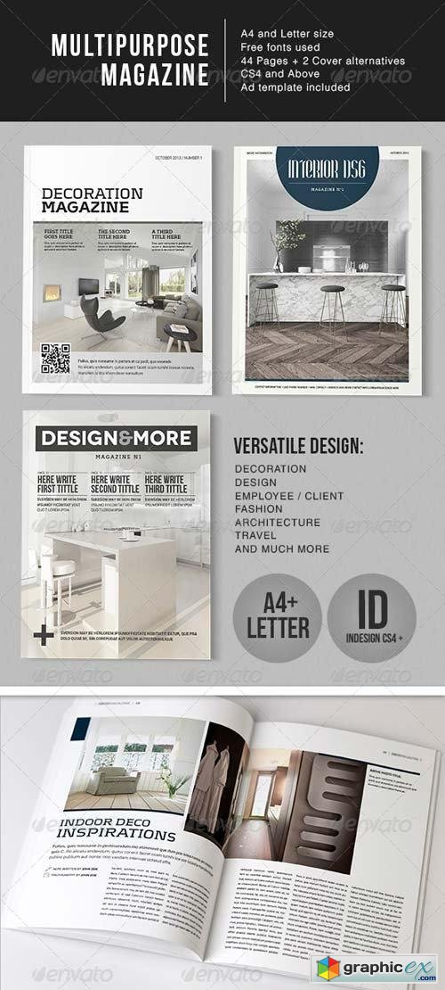 Multipurpose 44 Page Magazine - A4 + Letter