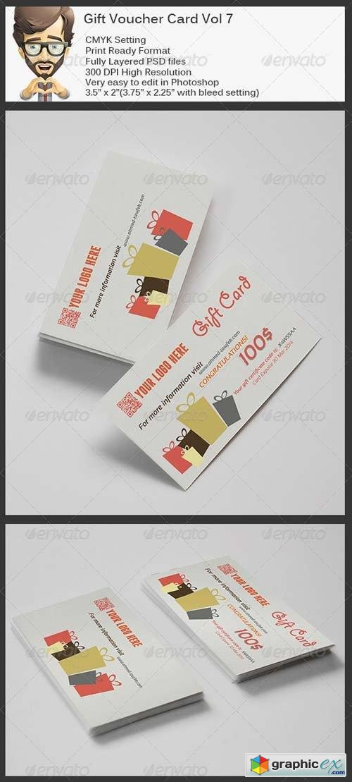 Gift Voucher Card Vol 7