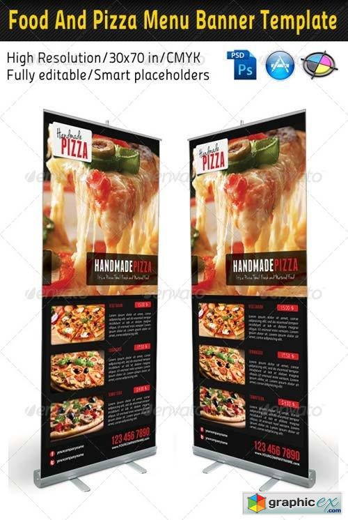 Food And Pizza Menu Banner Template 02