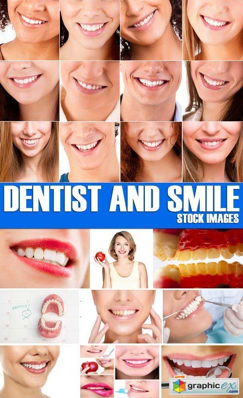 Stock Photos - Dentist and smile, 25xJPG