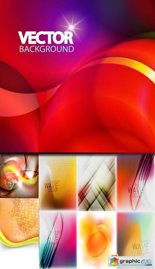 Abstract background with colorful waves, 25xEPS