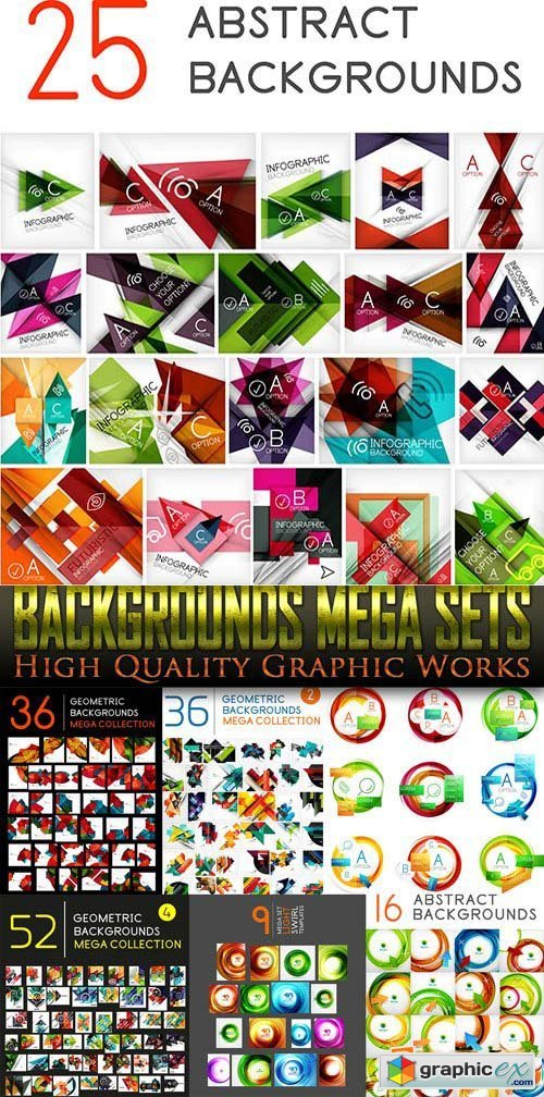 Backgrounds Mega Sets 25xEPS