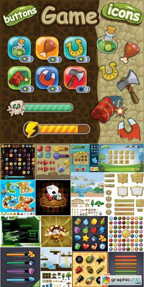 Game design elements in vector 25xEPS