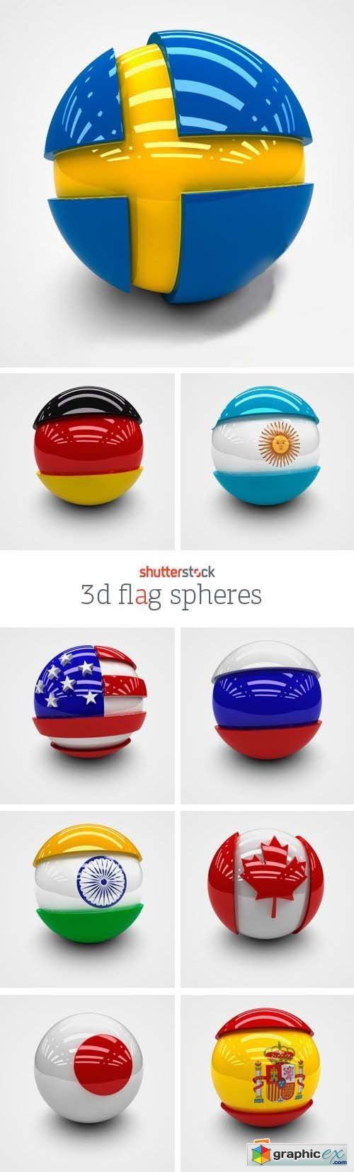 Amazing SS - 3D Flag Spheres, 25xJPGs