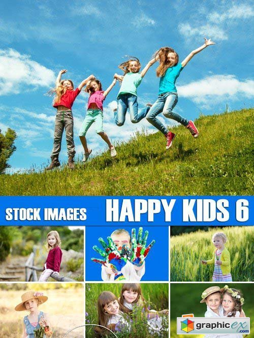 Stock Photos - Happy kids 6, 25xJPG