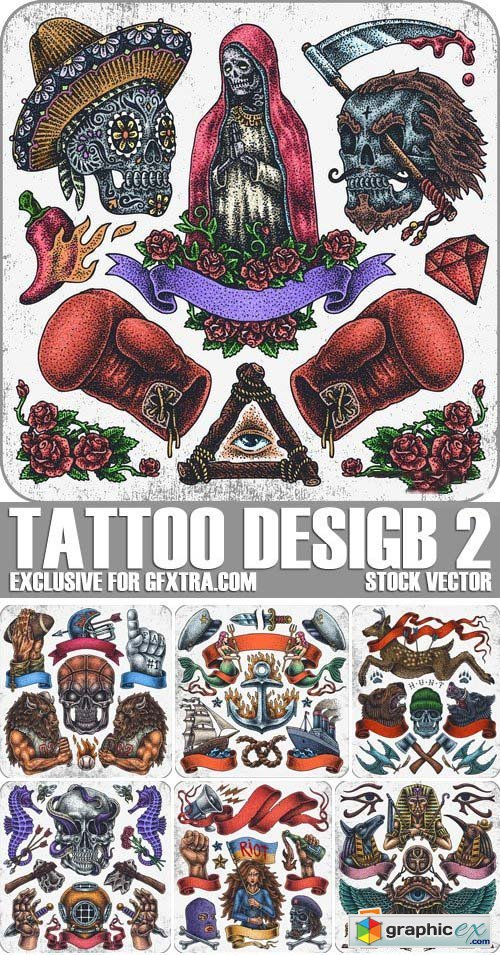 Stock Vectors - Tattoo design 2, 25xEPS