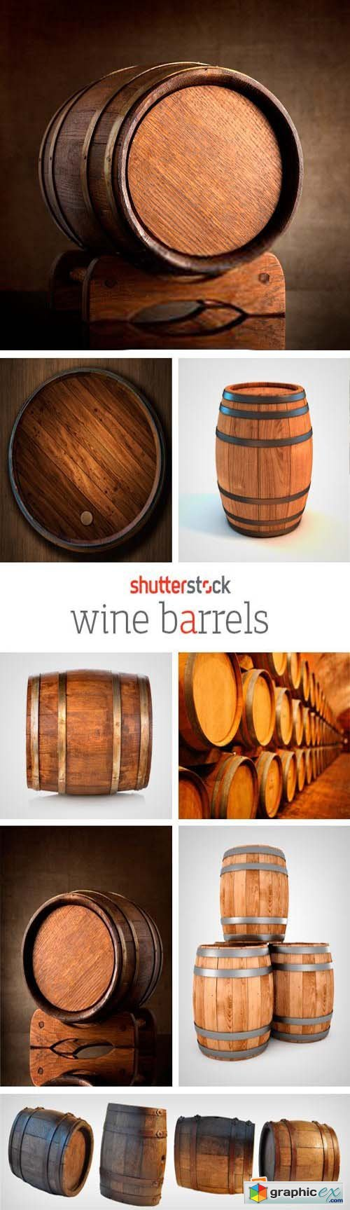 Amazing SS - Wine Barrels, 25xJPGs