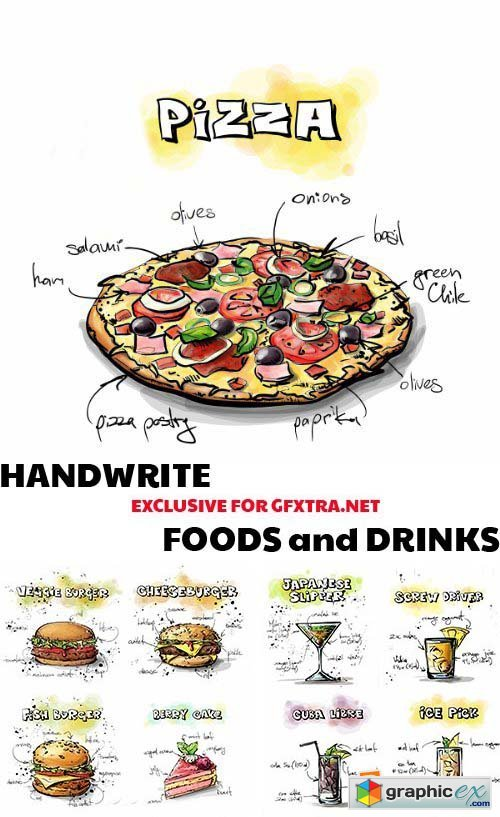 Handwrite Foods and Drinks 1