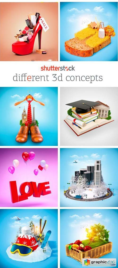 Amazing SS - Different 3D Concepts, 25xJPGs