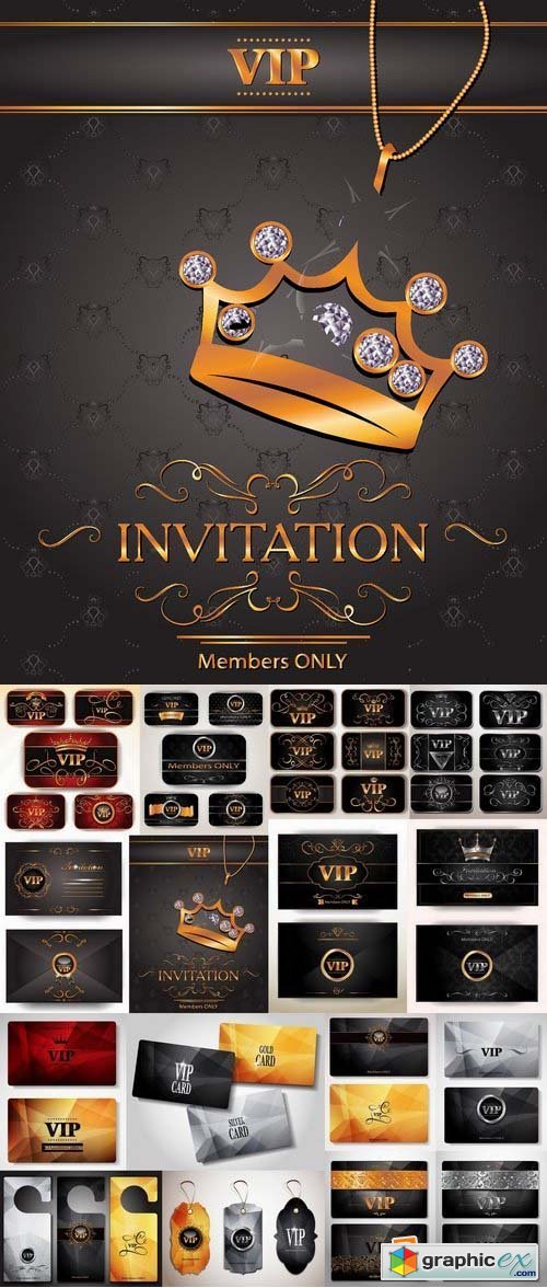 Template for VIP Cards and door tags 24xEPS