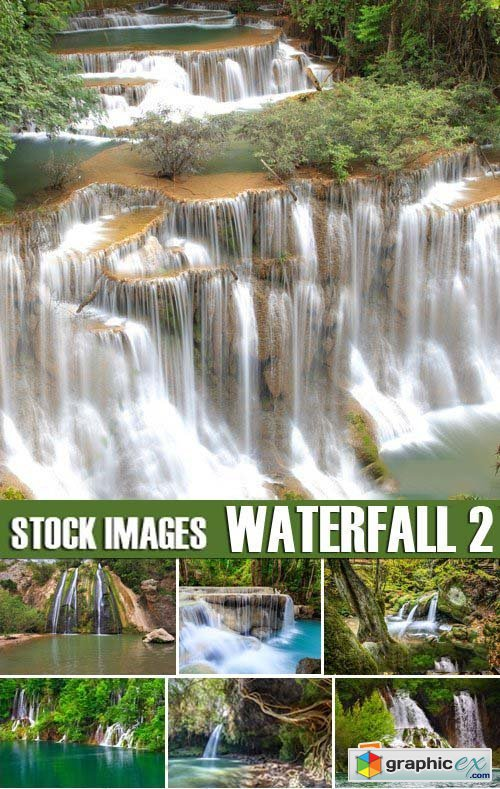 Stock Photos - Waterfall 2, 25xJPG