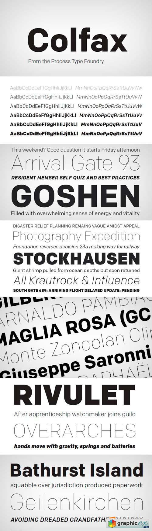 Colfax Font Family - 12 Fonts for $250