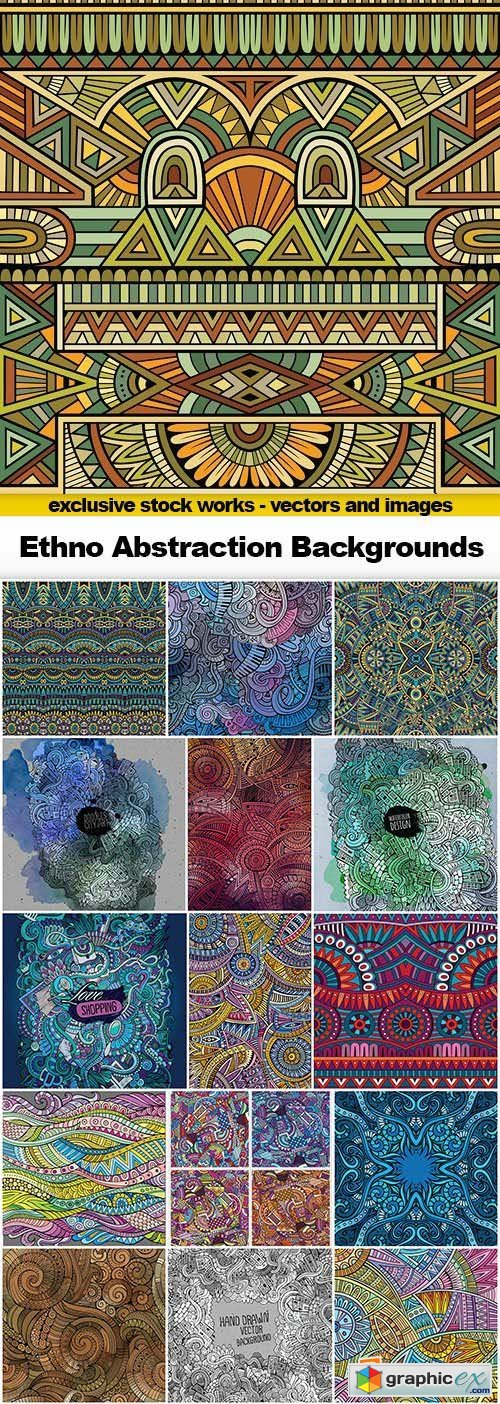Ethno Abstraction Backgrounds - 25x EPS