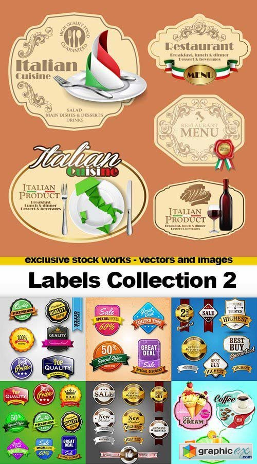Labels Collection 2, 25x AI