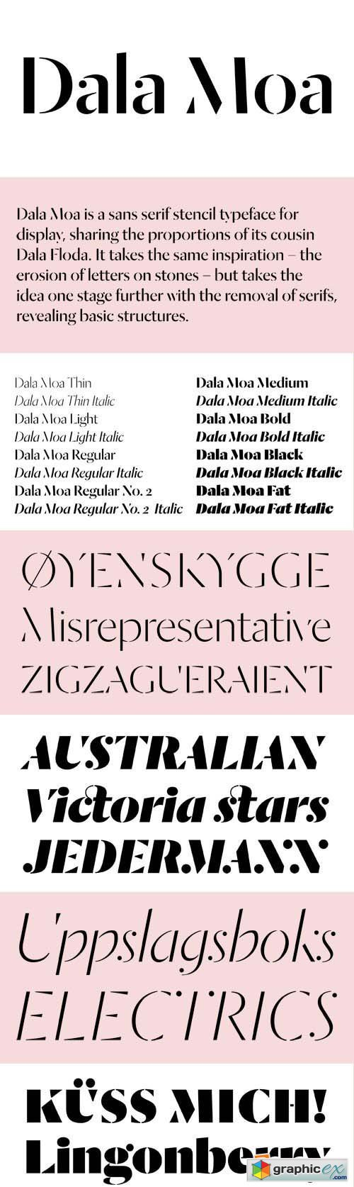 Dala Moa Font Family - 16 Fonts for $350
