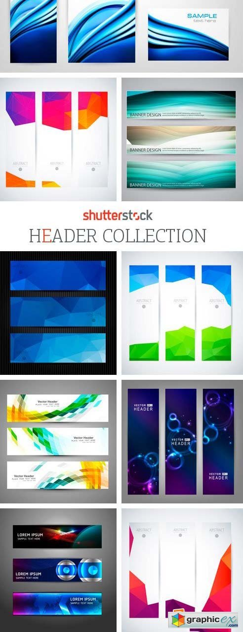 Amazing SS - Header Collection, 25xEPS