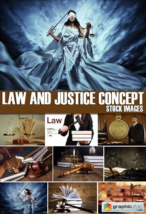 Stock Photos - Law and Justice Concept, 25xJPG