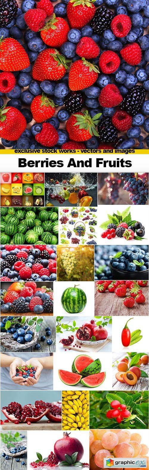 Berries and Fruits - 25x JPEGs