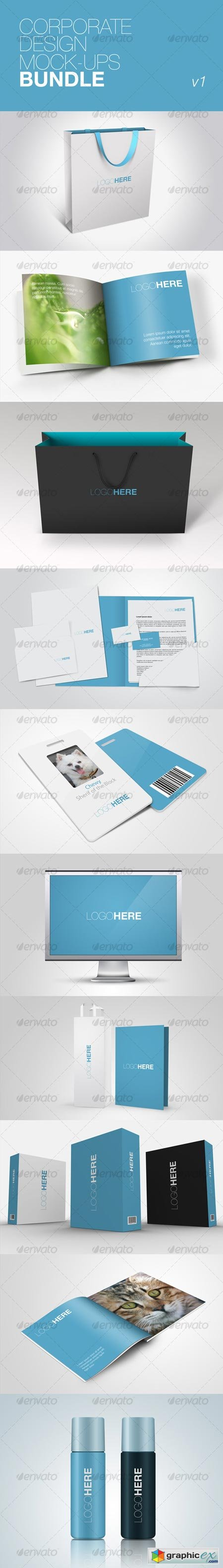Corporate Design Mock-ups Bundle v1 72429
