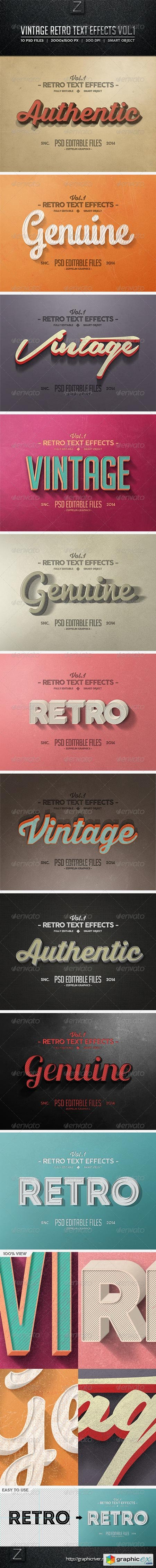 Vintage Text Effects Vol.1 8286248