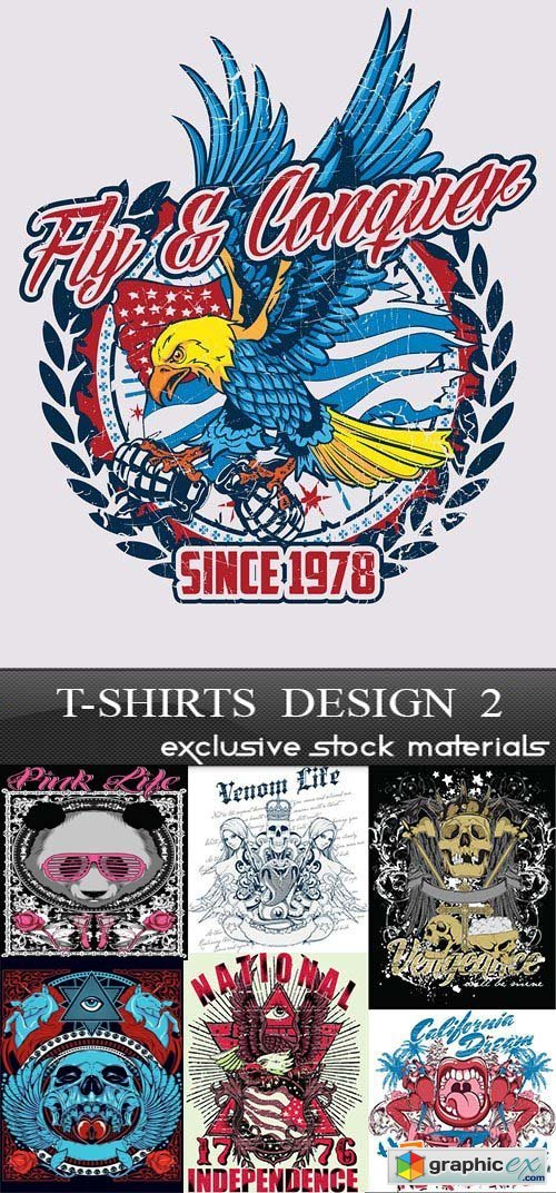 T-Shirts Design 2, 25xEPS