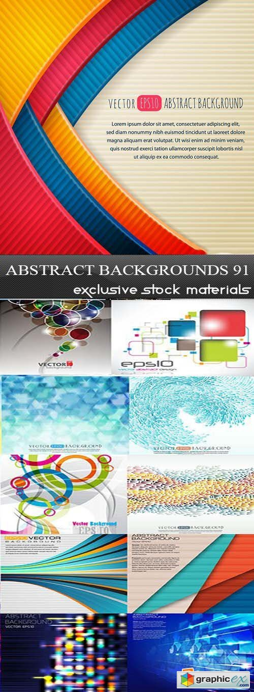 Collection of Vector Abstract Backgrounds Vol.91, 25xEPS
