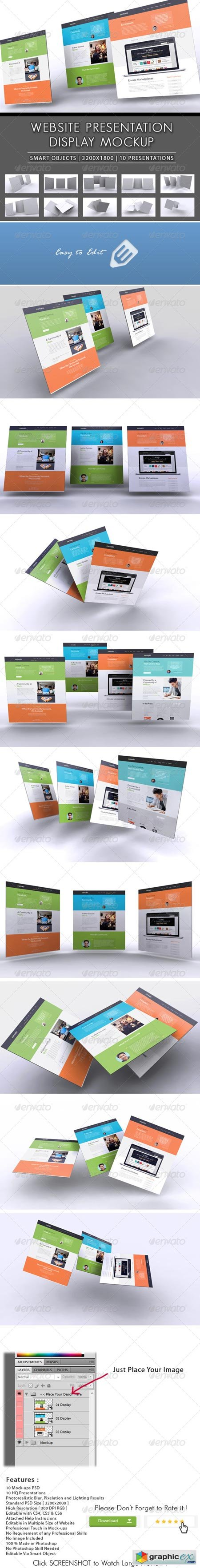 3D Website Presentation Mockup 8465536
