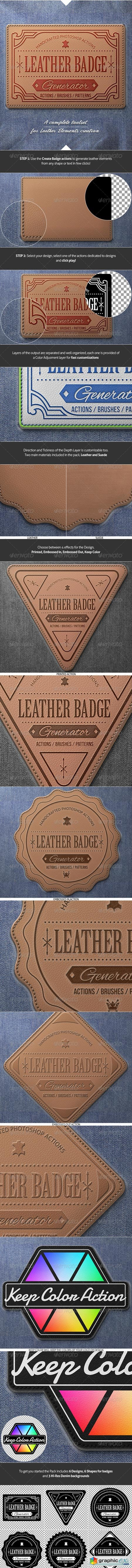 Leather Badge Generator - Photoshop Actions 8376002