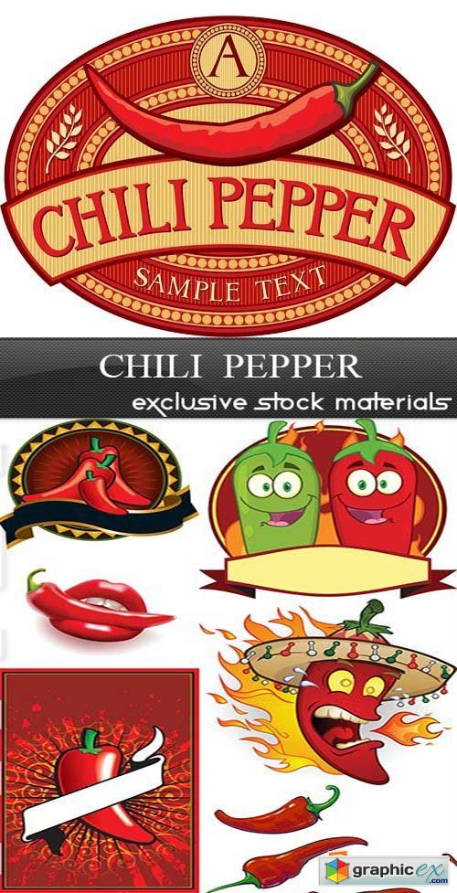 Chili Pepper, 25xEPS