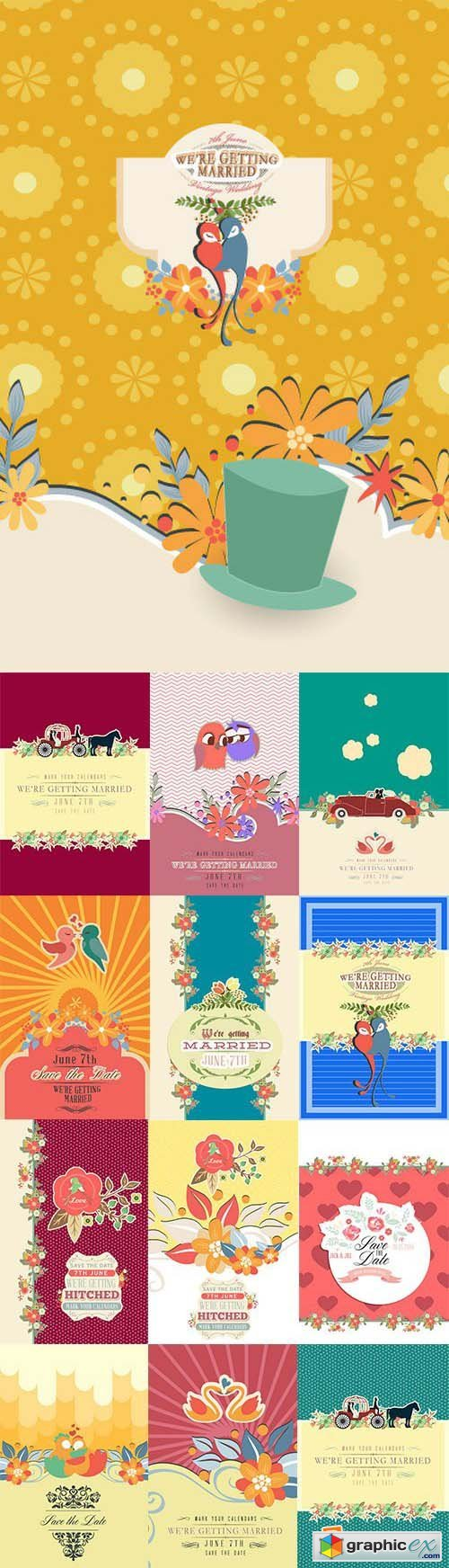 Vectorious 100 Wedding Vectors Collection